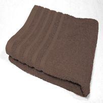 Decoline - Serviette de toilette 90 x 150 cm marron