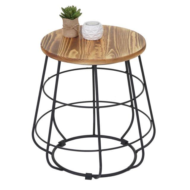 mendler table d 39 appoint hwc a80 table de nuit design. Black Bedroom Furniture Sets. Home Design Ideas