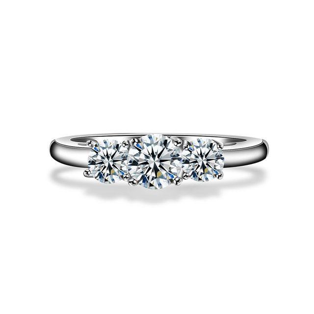 Blue Pearls - Bague Alliance Cristal de Swarovski Elements Blanc - Cry E429  J 52 4b0207ad607c