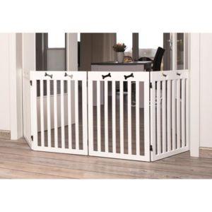 trixie barriere de s curit 4 pieces 60 160x75 cm blanc pour chien pas cher achat. Black Bedroom Furniture Sets. Home Design Ideas