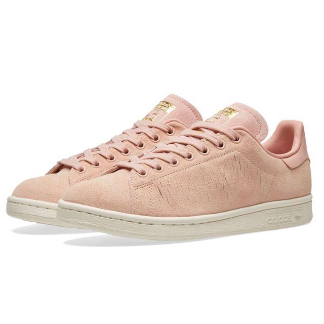 Adidas originals - Baskets - Femme - Stan Smith Bb5168 - Rose Franges 41 1/