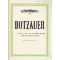 Edition Peters - Méthodes Et Pédagogie Dotzauer Friedrich - 113 Exercices Vol.1 n° 1-34 Violoncelle Violoncelle