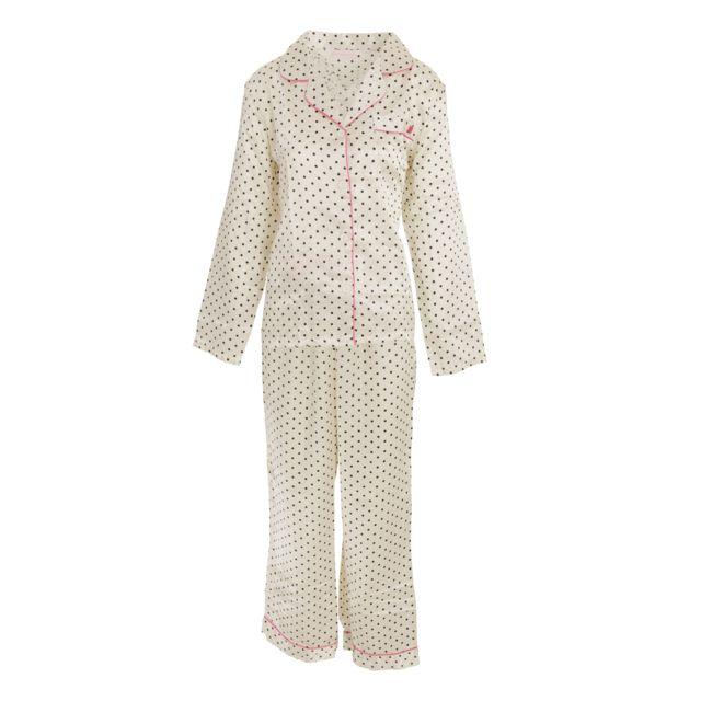 6d9d152143d3d Generic - Forever Dreaming - Ensemble de pyjama en satin - Femme S, Crème  Utn1084 - pas cher Achat / Vente Pyjamas - RueDuCommerce