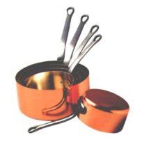 Baumalu - Série 5 Casseroles Cuivre 2 mm Etamé 12 à 20 cm