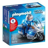 Playmobil - 6876 Moto de policier avec gyrophare
