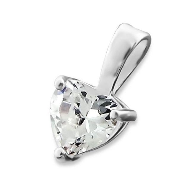 sochicbijoux so chic bijoux pendentif coeur oxyde de zirconium argent 925 pas cher achat. Black Bedroom Furniture Sets. Home Design Ideas