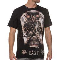 Religion - Tee-shirt aspect usé homme imprimé croix