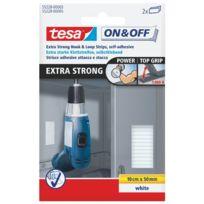 Tesa - Bandelette auto-agrippante extra blanc x2