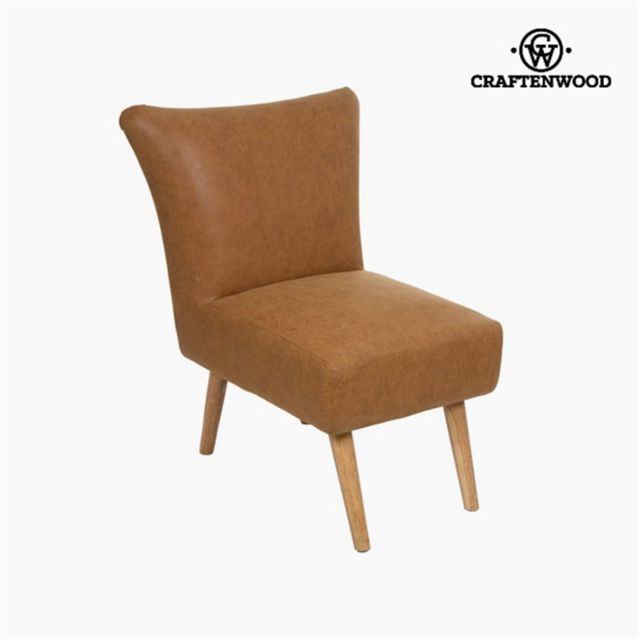 Craftenwood Fauteuil cuir synthétique - Collection Vintage by