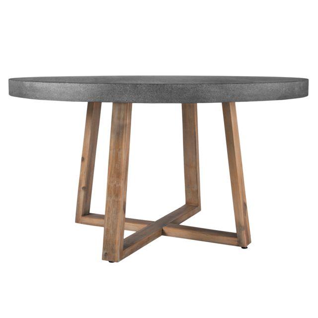 Rendez Vous Deco Table Ronde Tambora 140 Cm Pas Cher Achat