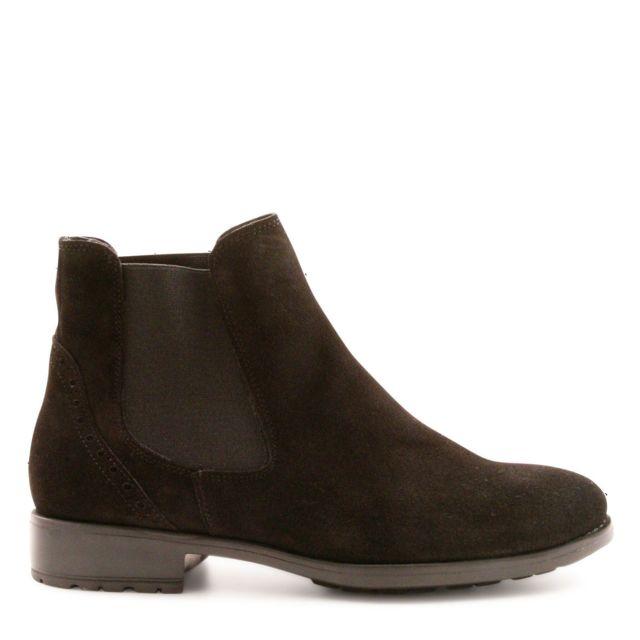 Leonardo Shoes Femme 2658NERO Marron SuÈDE Bottines