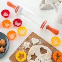 Marque Generique - Rouleau avec moules pour biscuits 9 pièces Patisserie décoration