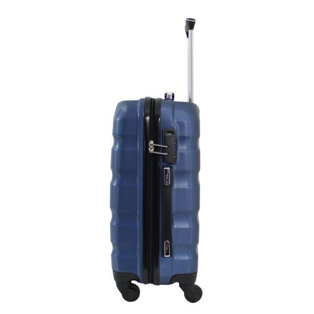"Alistair - Valise cabine 55cm - ""Fly"" - Abs Ultra Légère - 4 Roues Bleu"