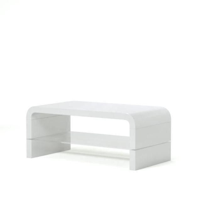 Table Table Basse basse Primis contemporain blanc 105x55cm laqué OPkXZuTi