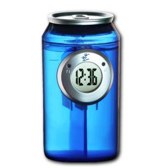 H2O Power - Horloge à eau canette 4 couleurs