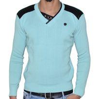Stef Wear - Pull - Col V - Homme - Stef 823 - Vert Pastel