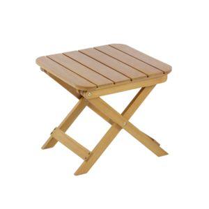 Hyba table d 39 appoint pliante melo bois marron pas - Table d appoint pliante en bois ...