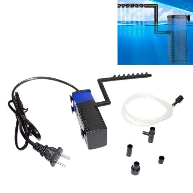 Wewoo Filtre d'Aquarium 4W 400L/H Multi-fonction Submersible Aquarium Pompe à Eau Circulation Poissons Réservoir à Air Intérie