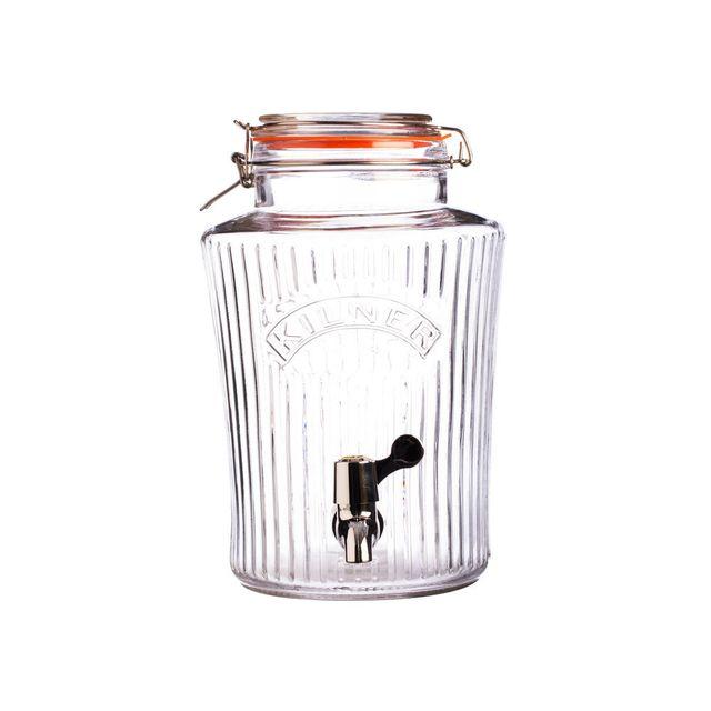 Kilner - Distributeur de boisson en verre version Vintage Drinking - 5L