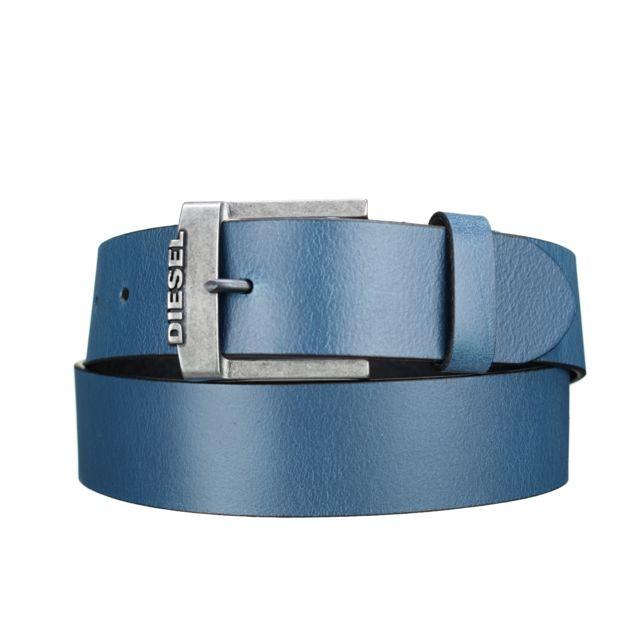 96bad470006e Diesel - B-deal T6056 Bleu - pas cher Achat   Vente Ceinture homme -  RueDuCommerce