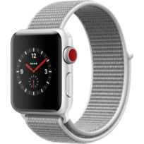 Watch 3 Cellular 38 - Alu argent / Boucle Sport coquillage