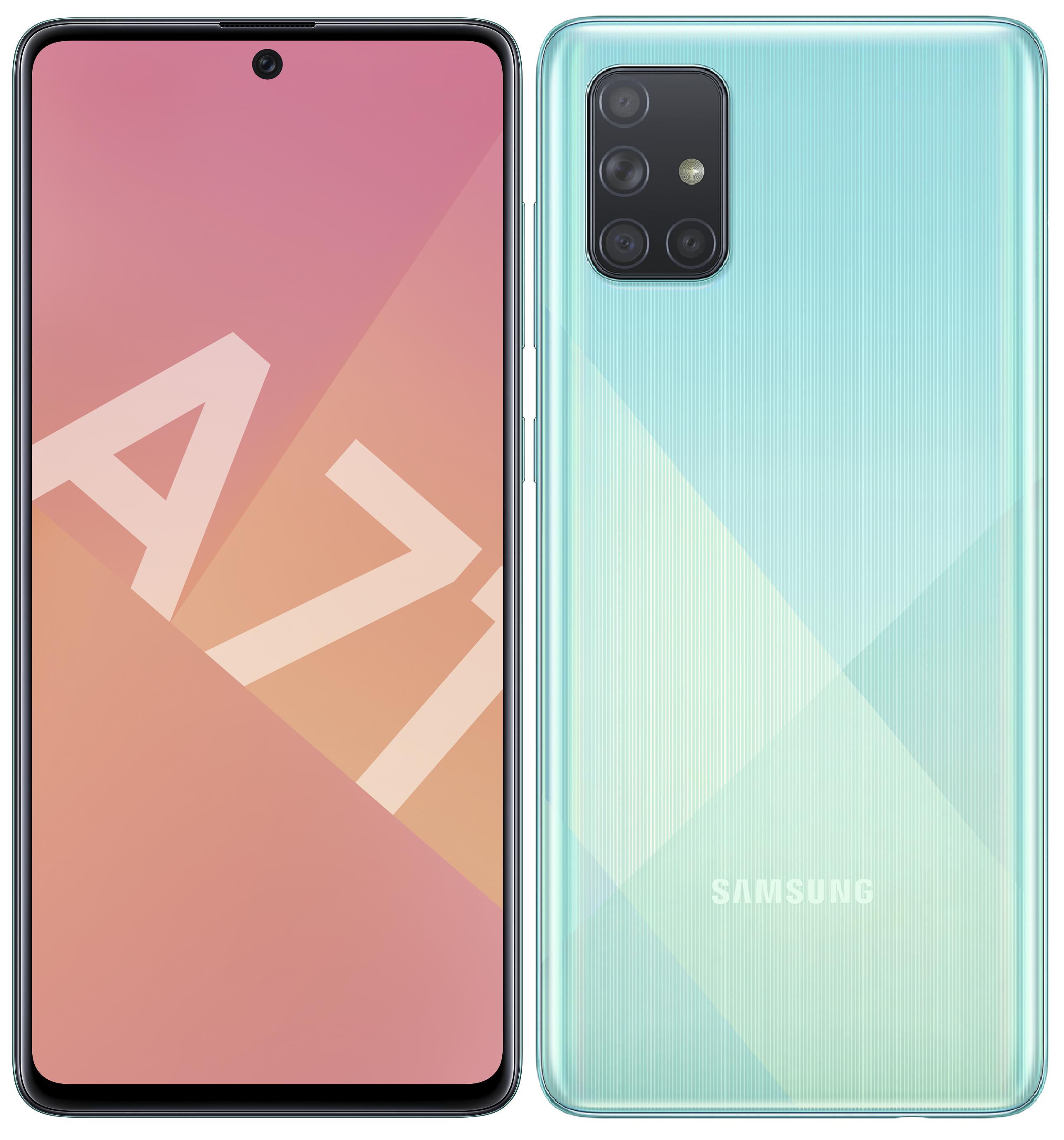 Smartphone Galaxy A71 Samsung Bleu Prismatique