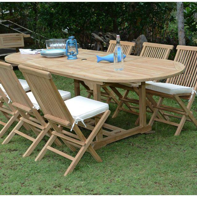 Teck Attitude Table De Jardin En Teck Extensible 100 X 240 Cm
