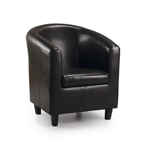 moycor fauteuil club en simili cuir marron michigan. Black Bedroom Furniture Sets. Home Design Ideas
