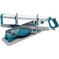 Kupper - Scie à onglet de précision, Taille de la lame : 550 x 45 mm, Larg. : de coupe à 45° 110 mm, Larg. : de coupe à 90° 160 mm, Hauteur de coupe : 120 mm