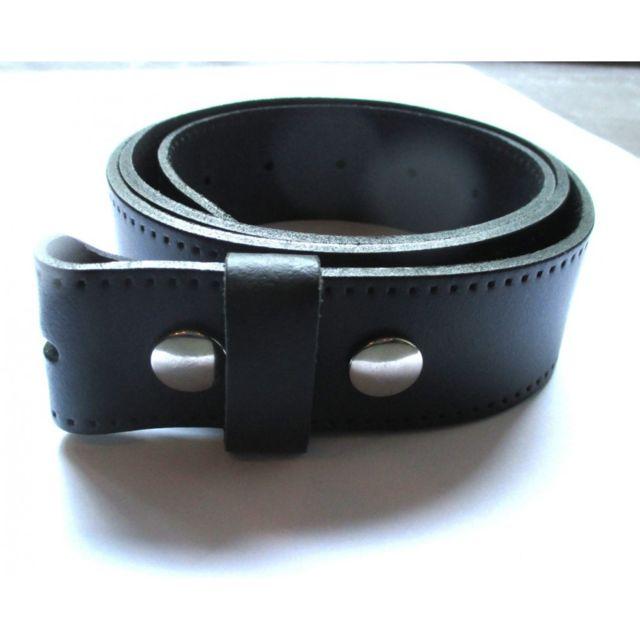 ddd5c8c3e584 Universel - 3XL 145cm ceinture en cuir noir avec 2 pressions homme femme  pleine fleur