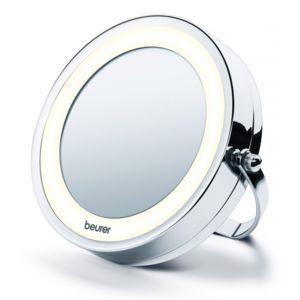 Beurer miroir grossissant lumineux 2en1 bs59 pas cher for Beurer miroir lumineux bs49