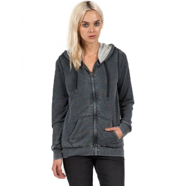 Volcom Sweat Lived In Sherpa Zip Black pas cher Achat