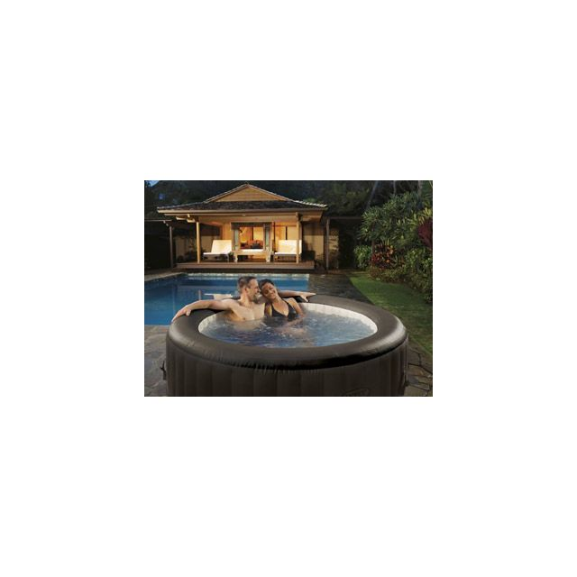 8e8c7ed208565a Intex - VigiPiscine - Spa gonflable Intex Pure Jets rond 4 places Ø196 x  71cm Pvc