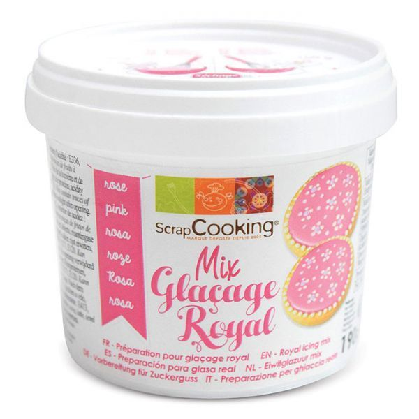 Scrapcooking Préparation glaçage royal rose 190 g