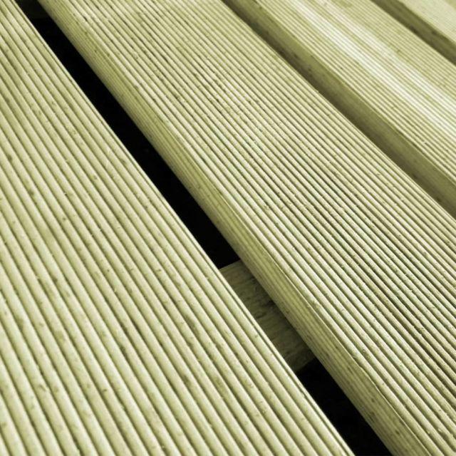 Icaverne Tapis Et Revêtements De Sol Ensemble Dalles De Terrasse 24 Pcs 50x50 Cm Bois Fsc Vert