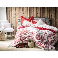 Housse de couette 100% percale de coton motif rosaces by Bensimon Bandana - Sienne - 140x200cmNC