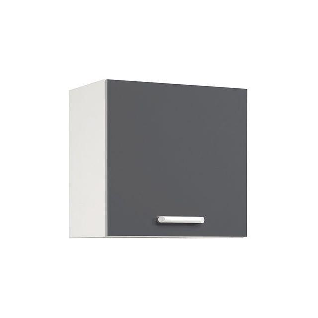Meuble haut L60xH58xP36cm - gris brillant