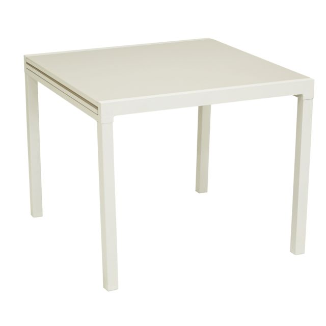 HYBA - Table Tello extensible 90/180 cm - Taupe - pas cher Achat ...