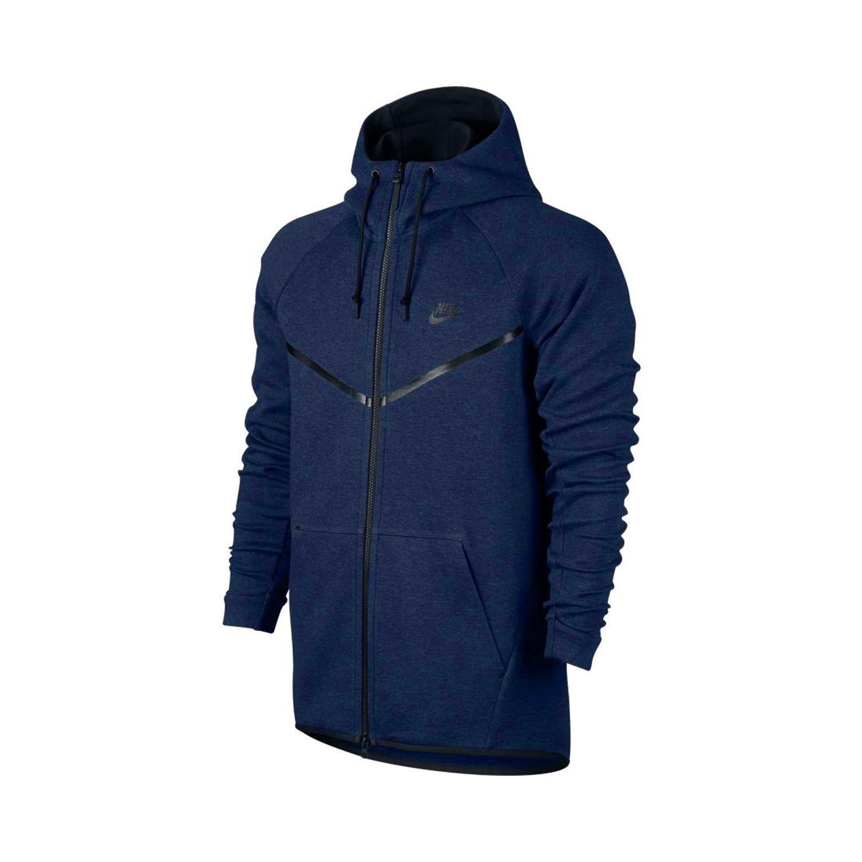 NIKE- Sweat à capuche Sportswear Tech Fleece Windrunner - 805144-451 - Bleu 561c671bd35