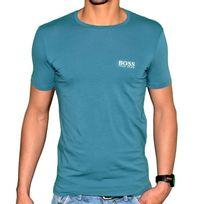 Hugo Boss - T Shirt Manches Courtes - Homme - Basic 50249638 - Bleu Blanc
