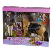 Eddy Toys - 53561 - PoupÉE Et Cheval - 29 Cm - 8 PiÈCES