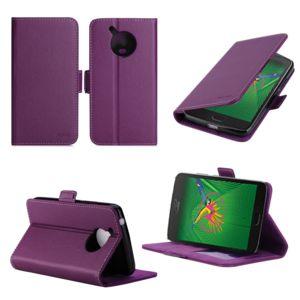 xeptio lenovo moto g5 housse portefeuille violette avec porte cartes accessoires pochette. Black Bedroom Furniture Sets. Home Design Ideas