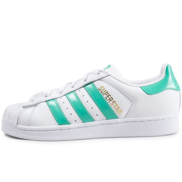 Adidas originals Superstar Foundation Blanc Et Vert pas