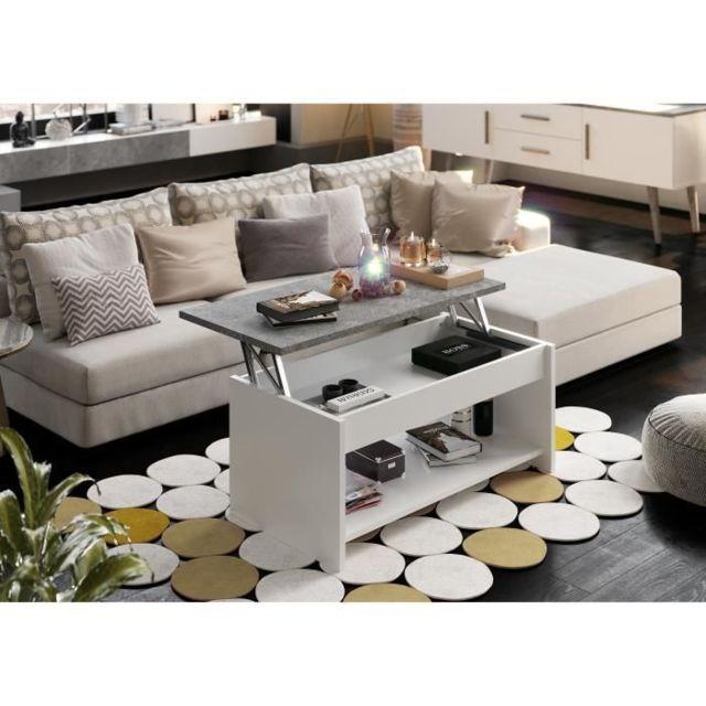 Basse Basse et No Blanc Name Table Happy Table relevable QrhdsCxt