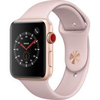 Watch 3 Cellular 42 - Alu or / Bracelet Sport rose des sables