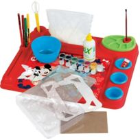Faro - 5411 - Kit De Loisirs CrÉATIFS - Bureau De L'ARTISTE Multi-activitÉS - Mickey Et Ses Amis - Pate A Sel - Peinture - Dessi