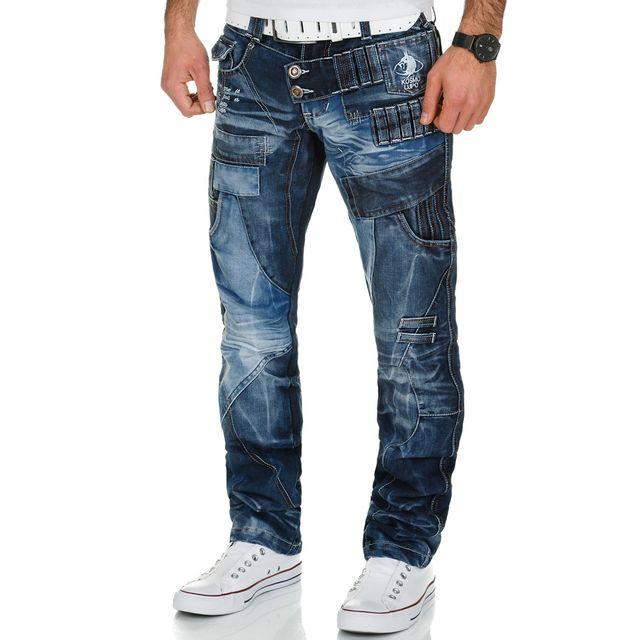 Kosmo Lupo Jeans fashion Jean homme 050 bleu
