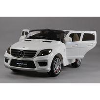 Mercedes - Voiture électrique enfant Ml63 à télécommande 12V Blanc