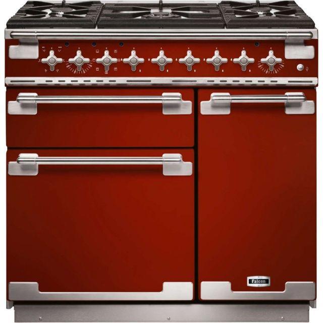 revendeur 26357 cbd54 Elise90 mixte Rouge Cerise - Piano de cuisson mixte