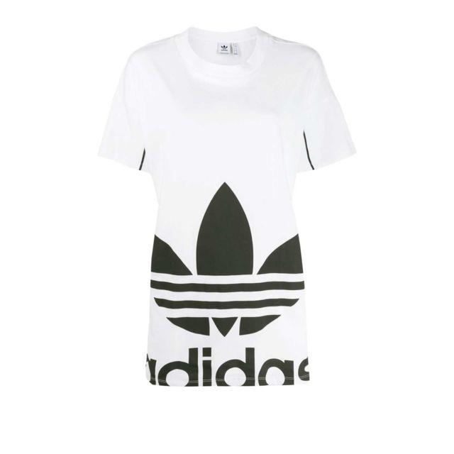 t shirt blanc adidas femme